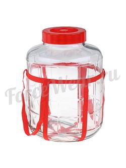 Банка стеклянная с крышкой с гидрозатвором (9 л., 15 л., 18 л.) - фото 20117
