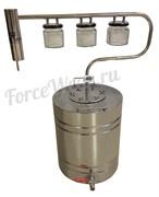 Самогонный аппарат (дистиллятор) ''Тройка'' (20 л.) FIRE STEEL