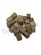 Щепа дубовая «Премиум» кубическая сильный обжиг (150 гр.)